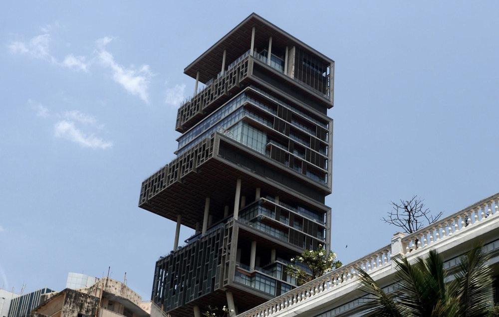 Figure 4:Ghost skyscraper: Antilia, Mumbai (Photo via India Times)