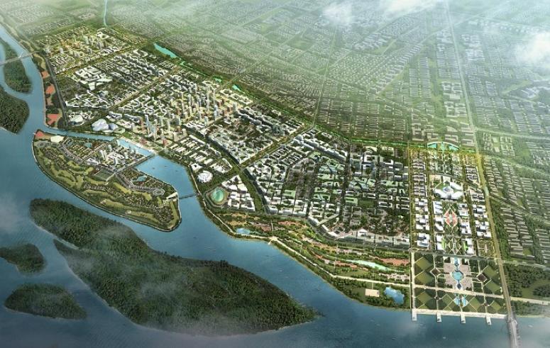 Concept of the Amaravati Master Plan   (Source:  Surbana Jurong )
