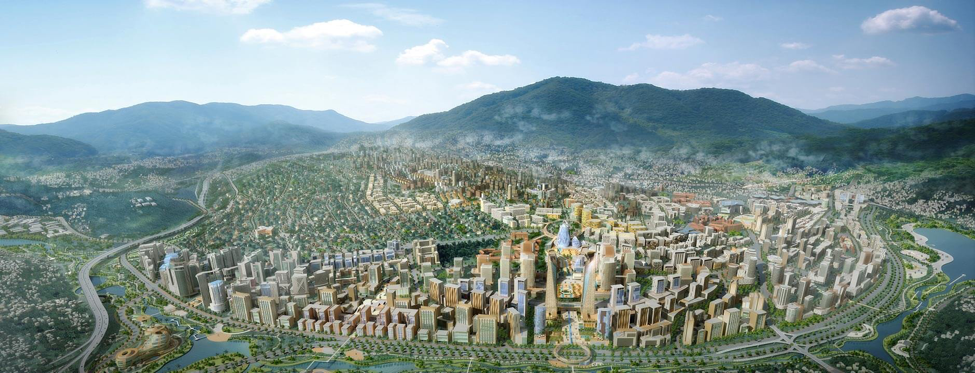Concept of Kigali City Master Plan   (Source:  Surbana Jurong website )