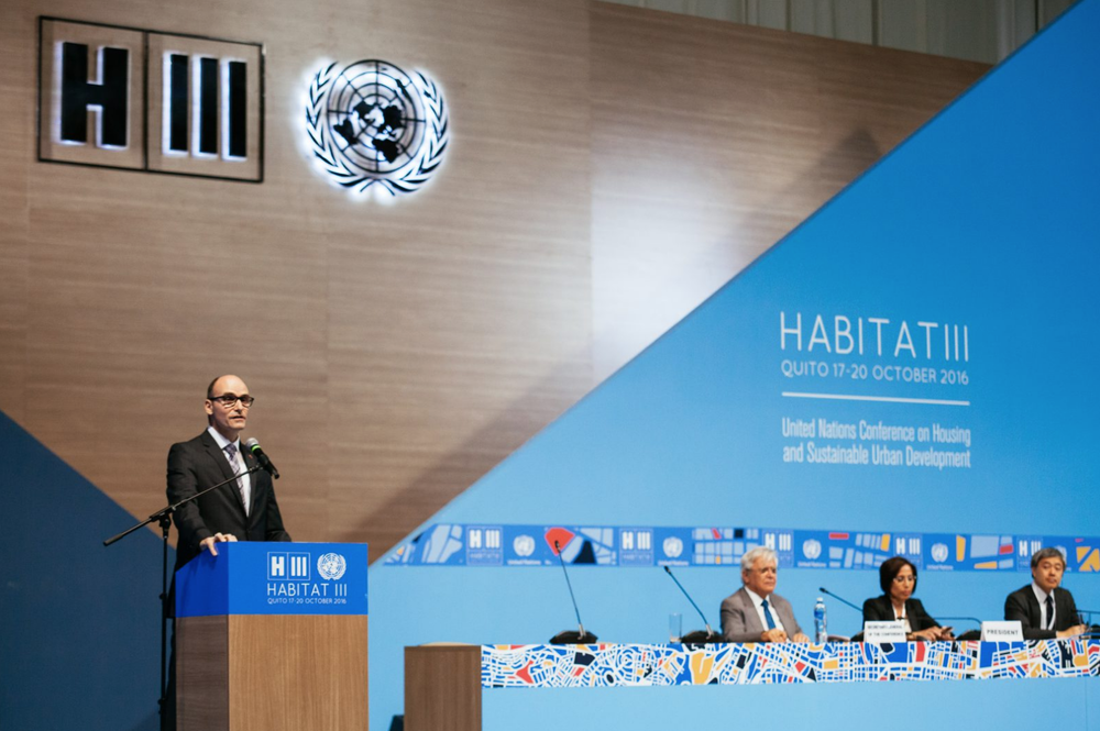 The 2016 Habitat III UN Conference on Housing and Sustainable Urban Development in Quito, Ecuador (Source:  LA.Network )