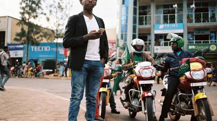 SafeMotos, a ride-hailing and safety-rating software developed in Rwanda  ( Source: National Geographic )
