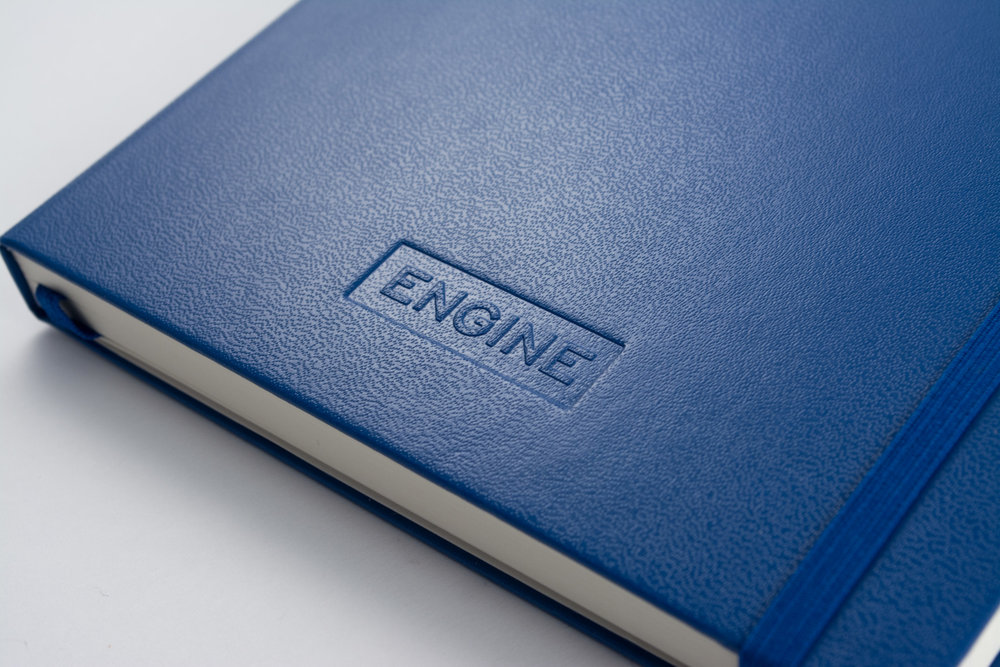 Leuchtturm1917 notebook with blind embossing
