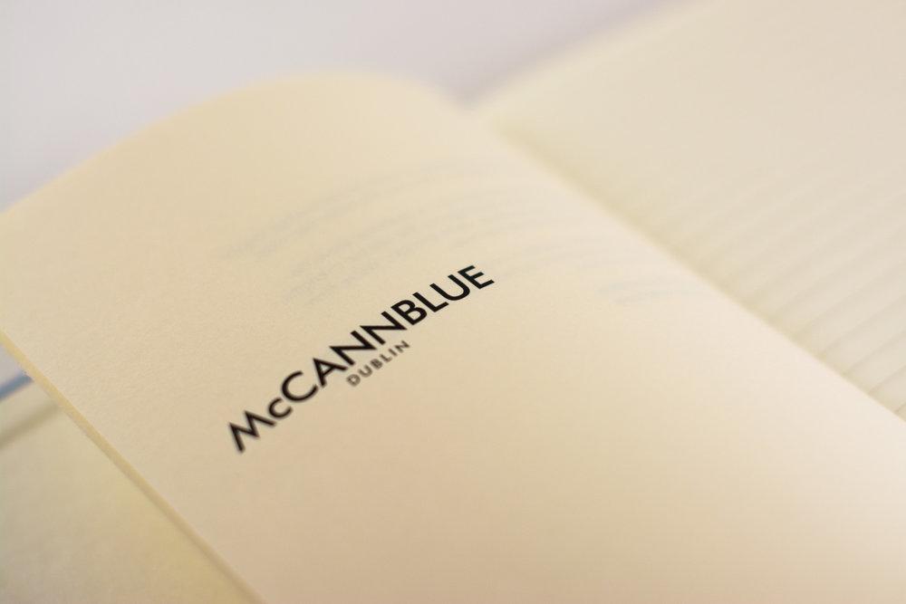 Black print on ivory stock in Castelli notebook