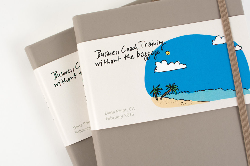 Castelli Tucson notebooks with custom printed belly band