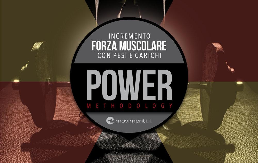 POWER METHODOLOGY | allenamento dedicato per incrementare la forza muscolare con pesi e carichi