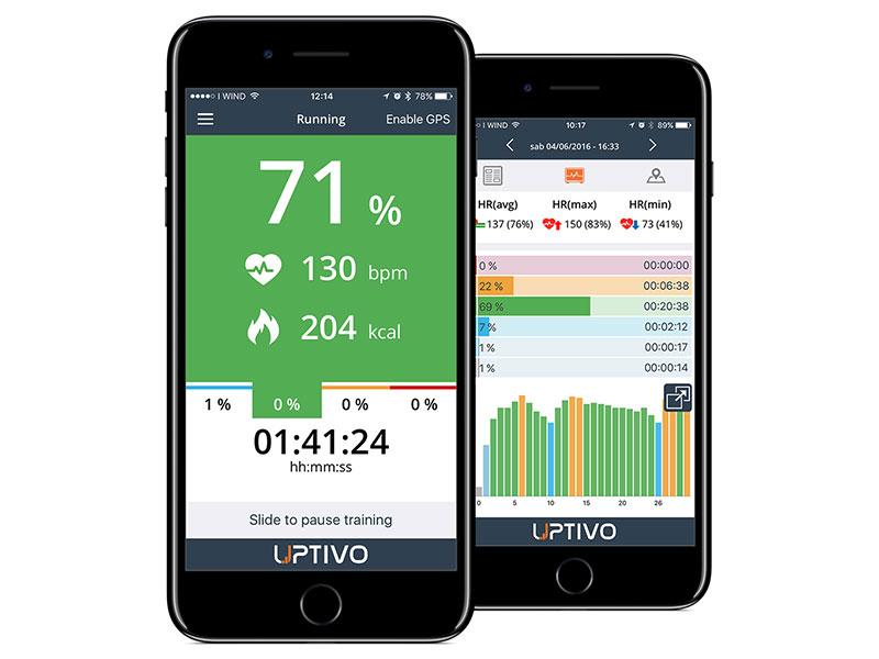 Puoi scaricare l'app Uptivo per registrare e analizzare le informazioni rilevanti del tuo allenamento