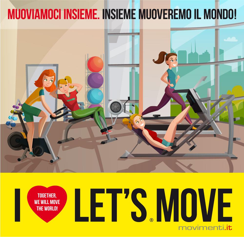 Muoviamoci insieme in palestra! Muoveremo il Mondo!