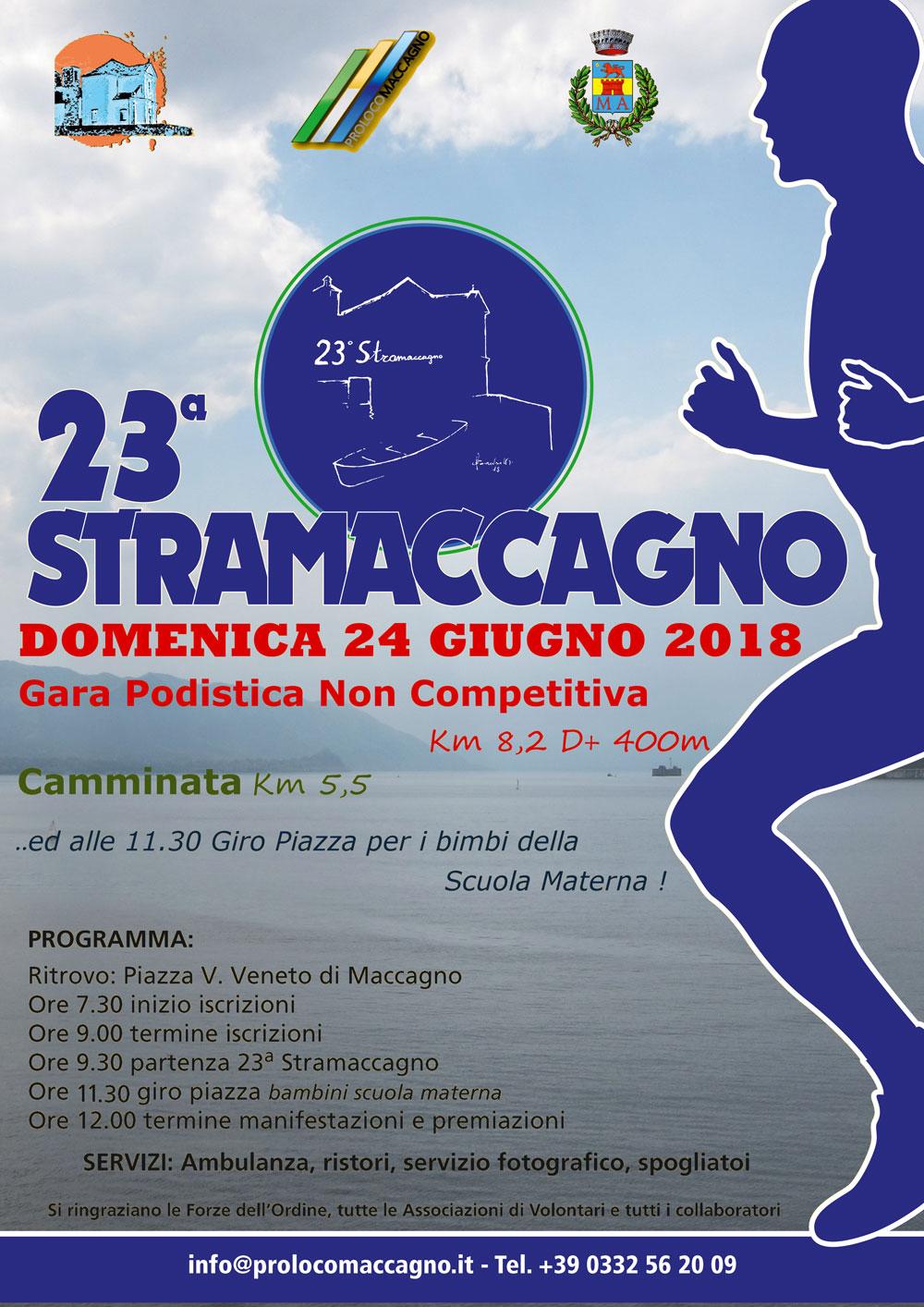 StraMaccagno 2018 - Gara podistica non competitiva [ locandina ]