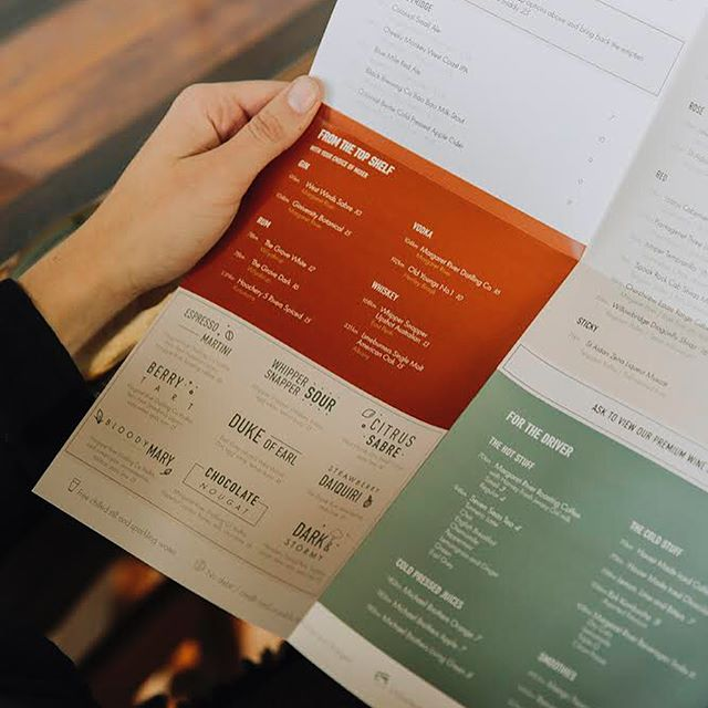 Freshly printed menu design for @smalls.bar 🙌 stoked with the earthy colour palette and the print quality 🙏  Anyone else get that relieved sensation when your work is finally in print?