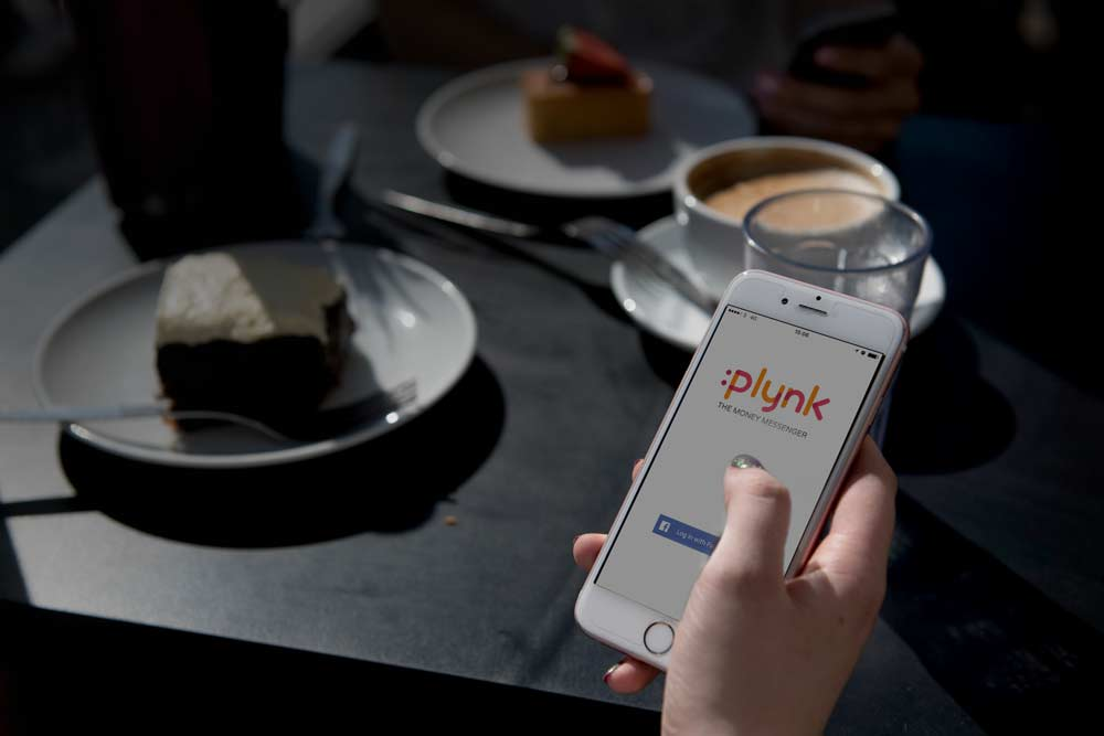 The Plynk app in its natural cafe habitat