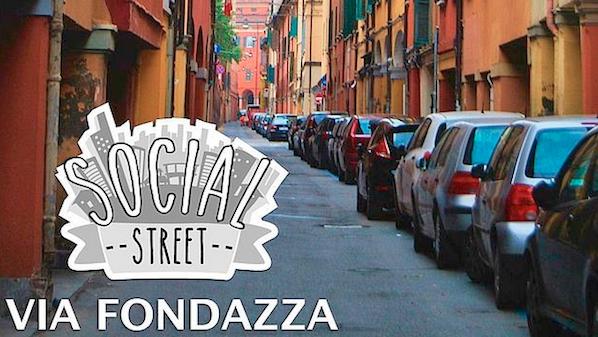 The original Social Street in Bologna's Via Fondazza, in Italy — Photo:Social Street