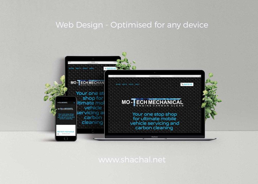 Mo Tech Mechanical Shachal Graphic Design