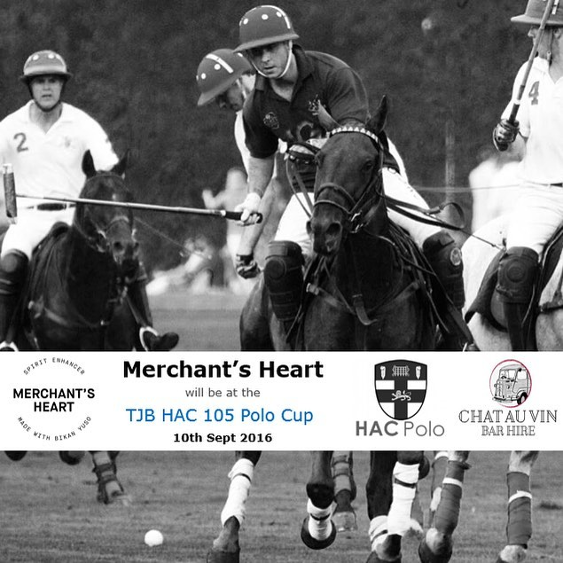 Merchant's Heart will be at the TJB HAC 105 Polo Cup this Saturday.  Find us at Chat Au Vin next to the Club House at Ham Polo Club  #merchantsheart #spiritenhancer #bikanyuso #polo #hampoloclub  #hac #hacpolo #horse #gin #vodka #tequila #bourbon #mezcal #vermouth #rum #quinine #cognac #japan #japanese #hibiscus #lemon #pinkpeppercorn #floralaromatics #ginger #gingerale @hacpolo @merchantsheart @chatauvinbars @tjbsuperyachts