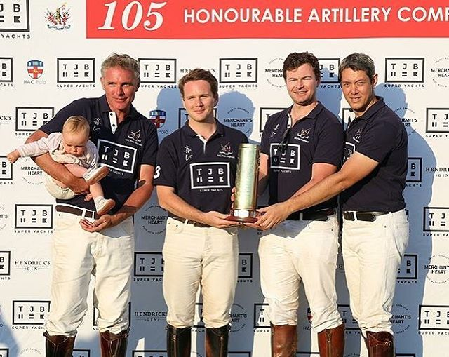 Hac regain the TJB 105 trophy at Ham on Saturday.  Thanks to all those that joined us on such a beautiful day #hacpolo #polo #hampoloclub #honourableartillerycompany #polotimes
