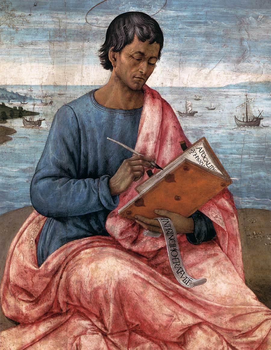 Domenico Ghirlandaio - St John the Evangelist on the Island of Patmos (detail)