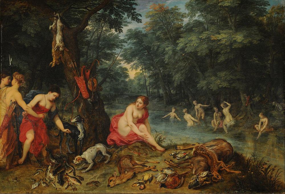 Jan Brueghel the Elder,Bath of the Nymphs