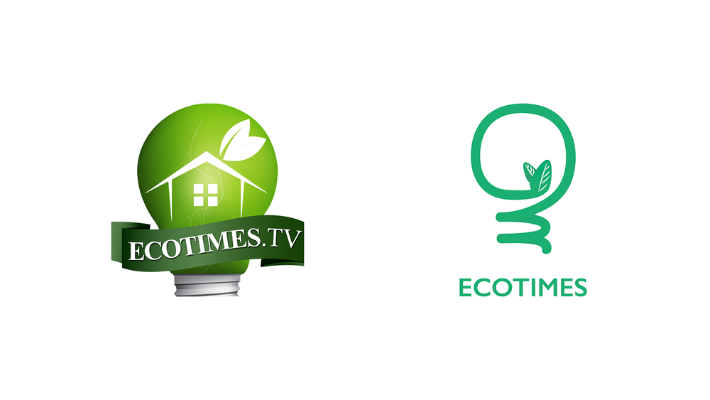 The old (left) and new Ecotimes logos