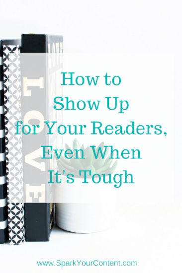 How to show up for your readers and why it's not the same as being visible