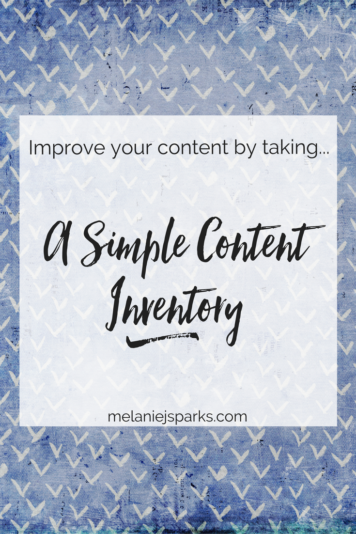 Improve your blog with a simple content inventory. Free worksheet for bloggers.