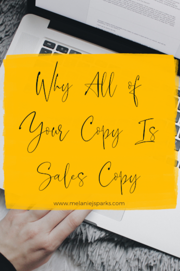 All of your copy is sales copy
