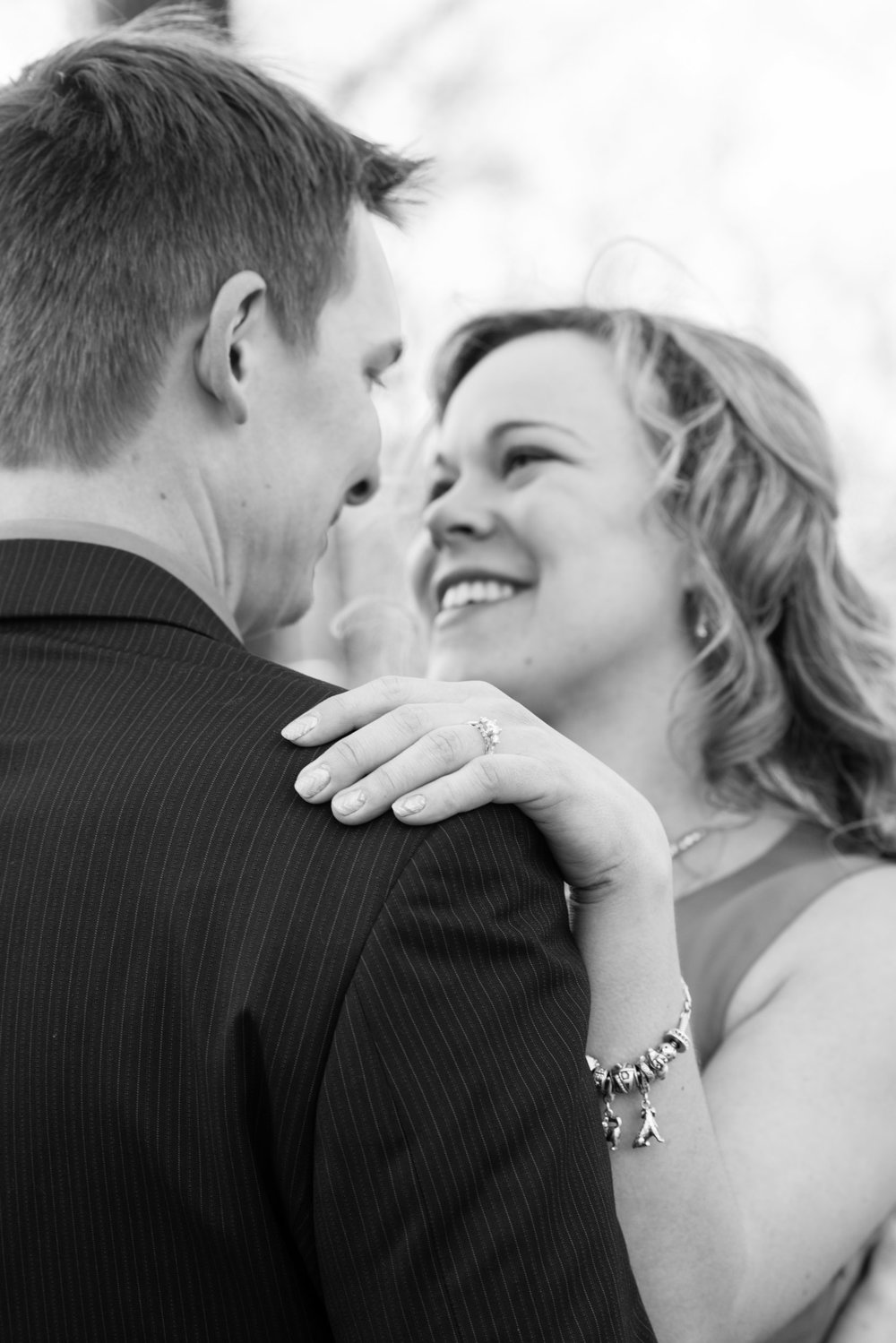 Black and white looking at each other - Engagement Portraits - Photo credit Nicola Bailey.jpg