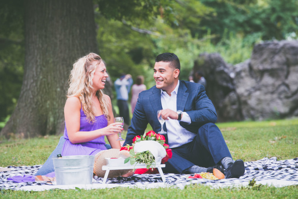 Couple post proposal picnic - Engagement Portraits - Photo credit Nicola Bailey.jpg