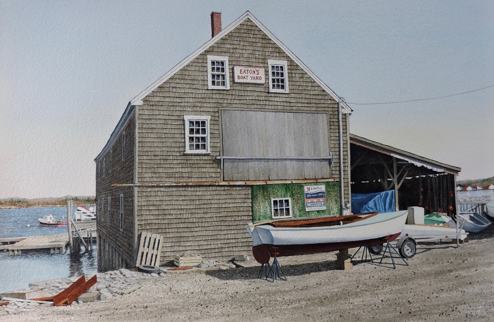 Gregory Dunham  - Eaton's BoatyardWatercolor12 x 16 inches2015