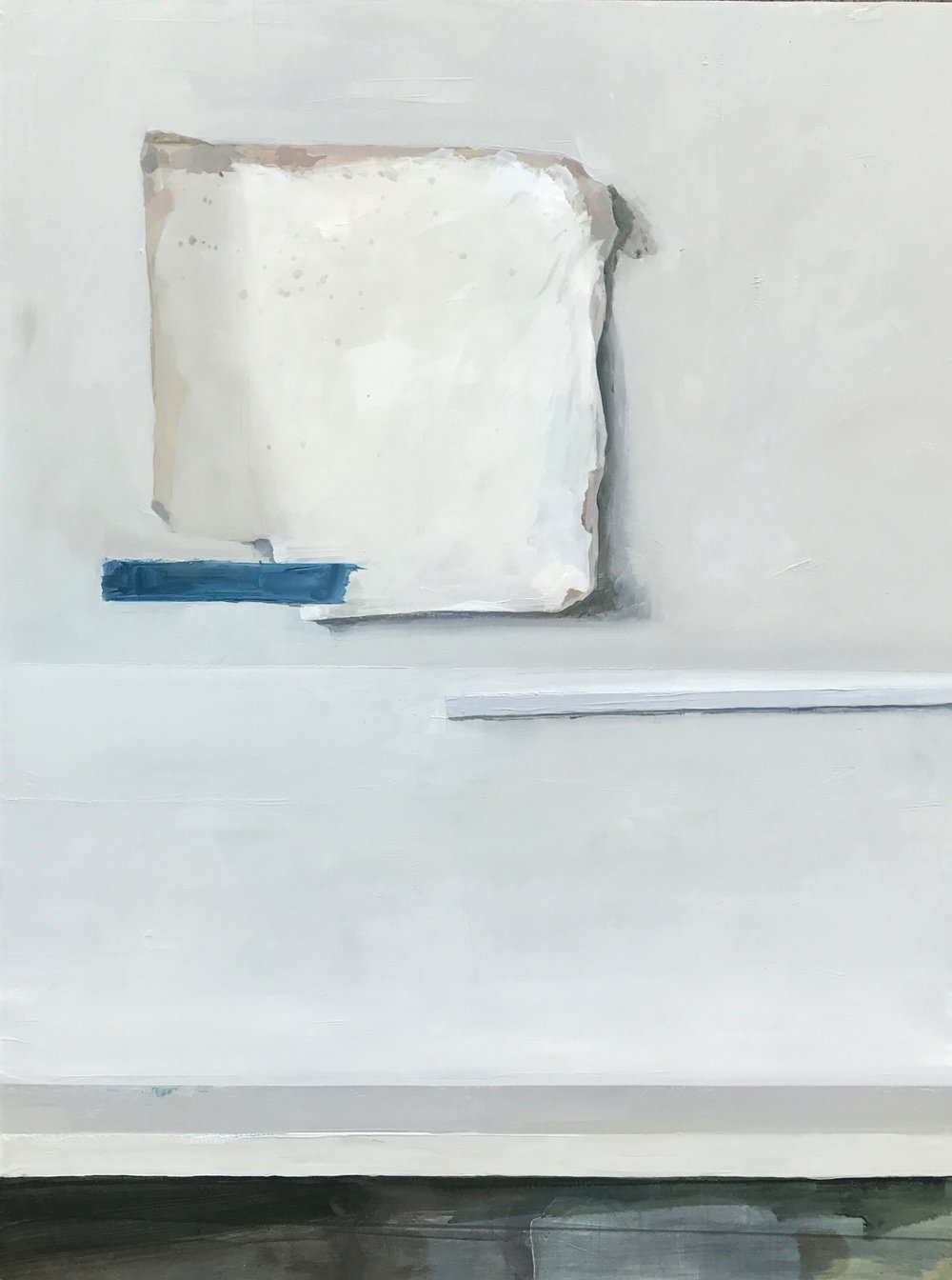 "Jenny Brillhart, Blank Linen with Gesso, 11x14"", Oil on Panel, 2017"