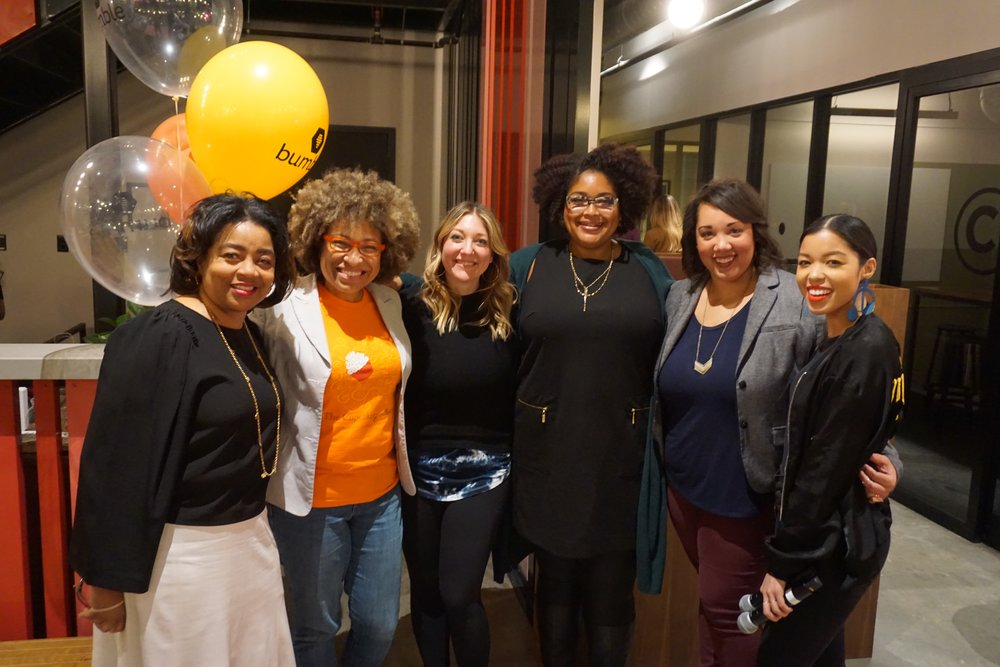 (L-R) Angela Crane-Jones, Mignon Francois, Kimberly Novosel, Laini Brown, Sarah Patton, Tiana Lewis