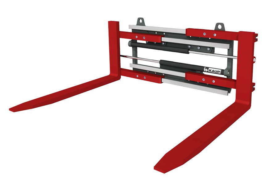 FORK CLAMPS - High-Visibility Fork Clamps can be used for transporting palletized goods as well as clamping purposes.