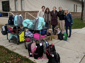 Roseville Covenant packed over 35 backpacks- along with lots of extra supplies- with the help of their elementary kids, youth group, and fellowship time gatherers!