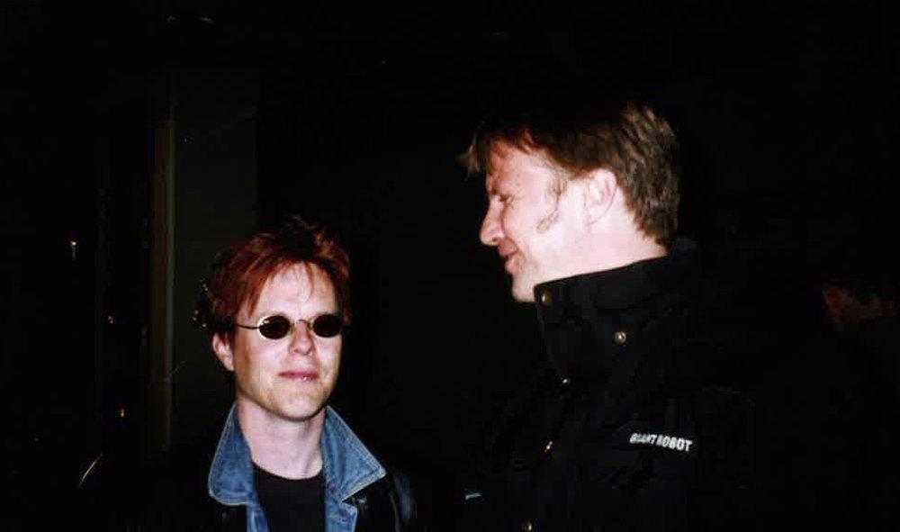 Bar Maryn toisen perustajan Jocke Lybeckin kanssa vuonna 2000. Kuva: Harri Frostell