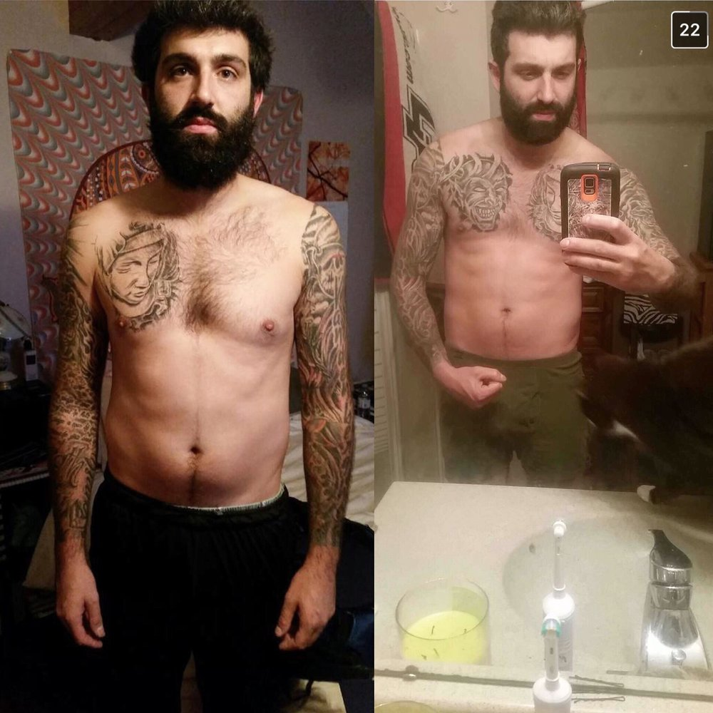Travis - Travis is a full time electrician and seasonal basketball coach! He wanted to bring up his Cardio and lose some body fat in the process. He managed to lose 12 lbs in 12 weeks!