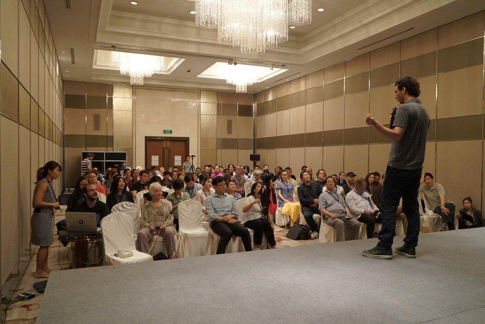 Speaking in Beijing