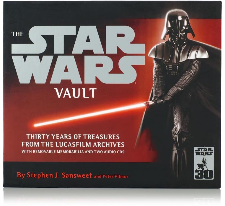 """This book is AMAZING!!! my hubby LOVES it!! he was so excited when he opened it... he couldn't believe all the details they had put into this book.""  ""'Star Wars Vault' is a huge, heavy scrapbook full of Star Wars mementos and memorabilia... This is a real treasure trove for the Star Wars collector. They couldn't have made replicas feel more authentic."""