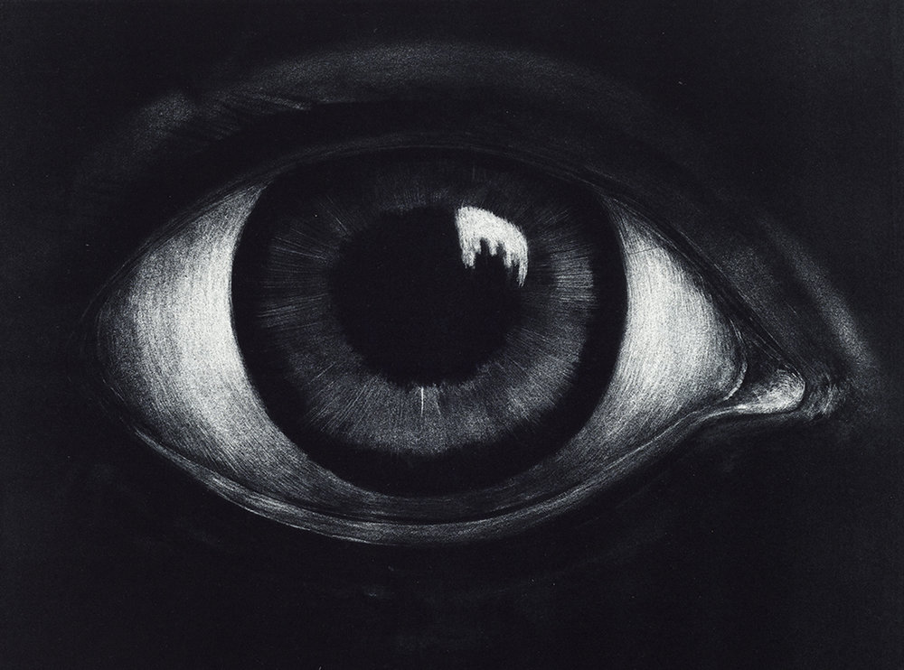 Eye, maniere noire lithography