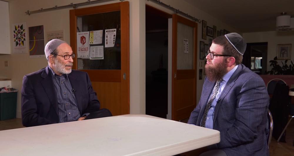 Rabbi Ed, Reform (left) and Rabbi Chaim, Orthodox (right) debate their views on Judaism