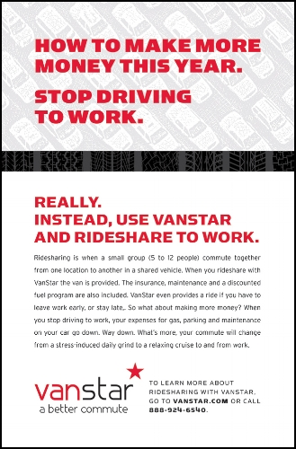 An ad targeted for workers who commute long distances.