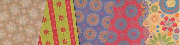IMAGE: Samples of Studio Haus surface patterns, ©2014 Christa Schoenbrodt, Studio Haus