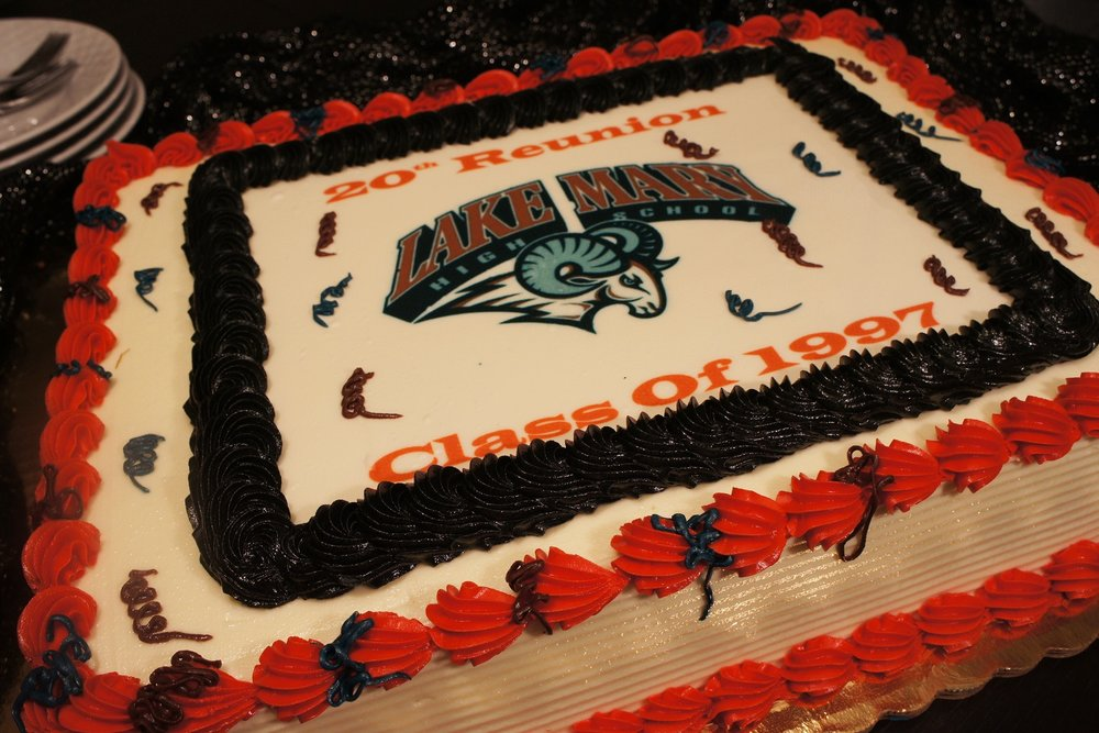 Contact us to order your custom logo cake!