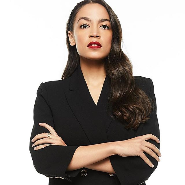 our (belated) #wcw is @ocasio2018 🖤 thank you for being radically honest and calling out the president and his administrations racist policies ✊ proud to have you represent our home state 💪 #immigrantsmakeamericagreat #immigrationreform #dreamactnow #nobannowall