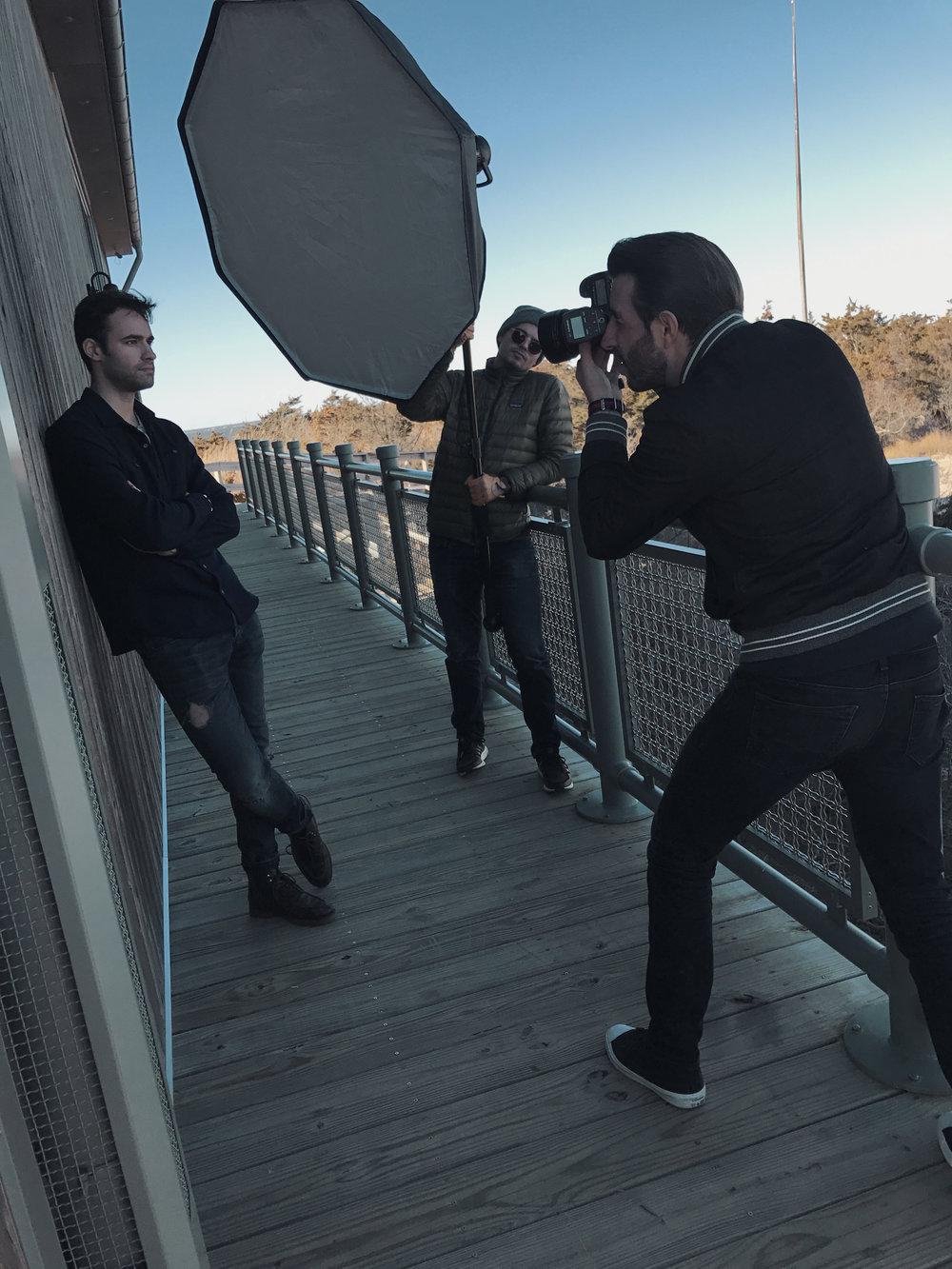 Behind the scenes for Elegant magazine, Long Island NY, 2017