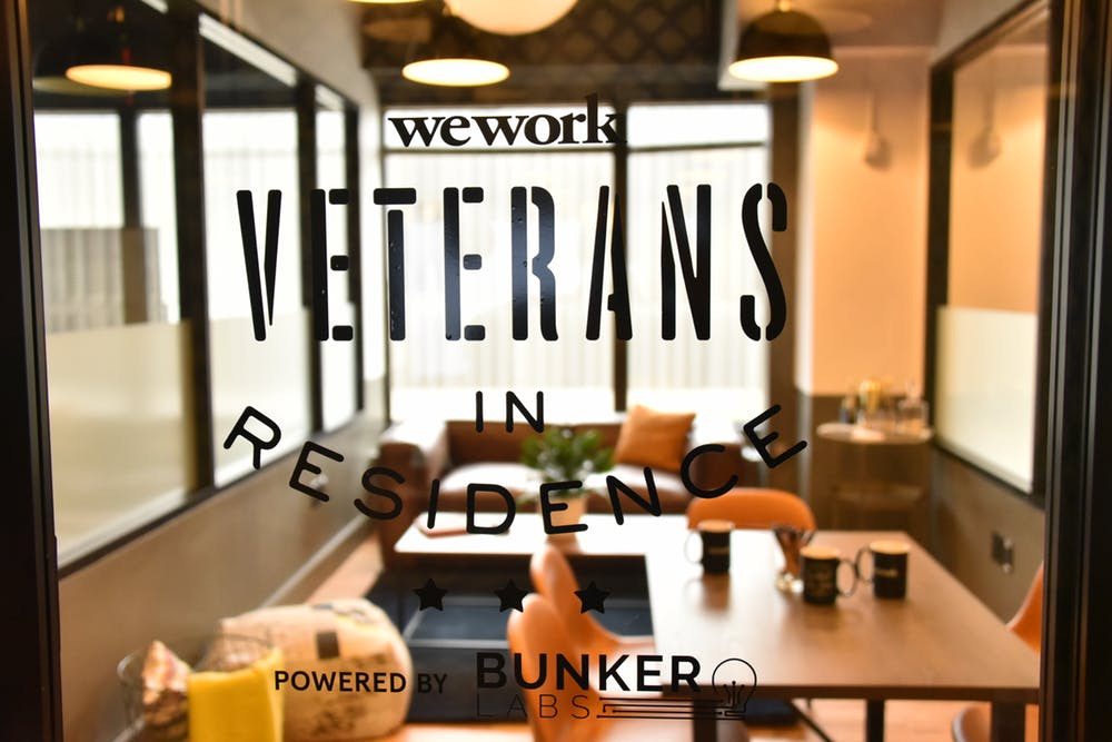 Sponsored Workspace - Veterans enjoy access to complimentary workspace for six months and the full WeWork member experience, from front-desk support to discounts on operational software in our Services Store.