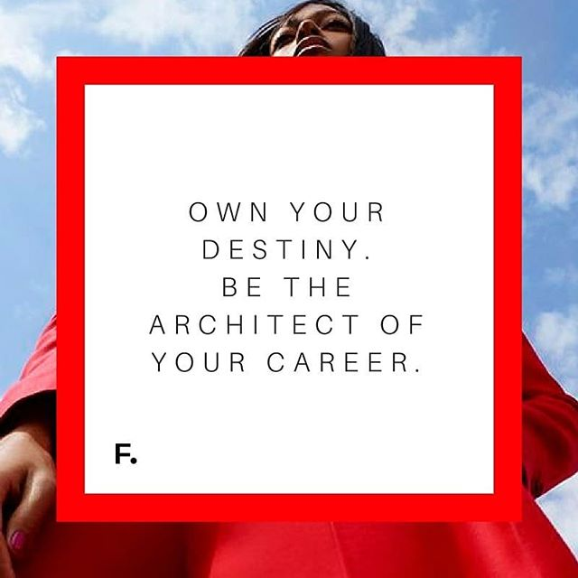 Be the architect of your career. Building a network can be a part of that! Join The Profashionals Network - our group on Facebook joining together fashion creatives.  DM us for more info.
