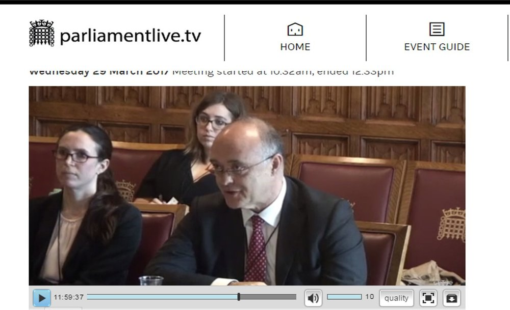 Chair of the Bar Andrew Langdon QC gives evidence to the House of Commons Justice Committee on the implications of Brexit for justice.