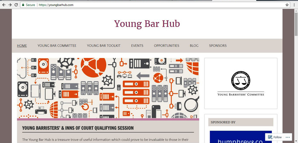 The Young Bar Hub website