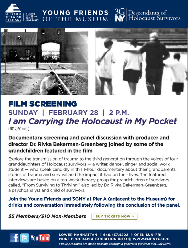 """I am Carrying the Holocaust in My Pocket"" Film Screening"