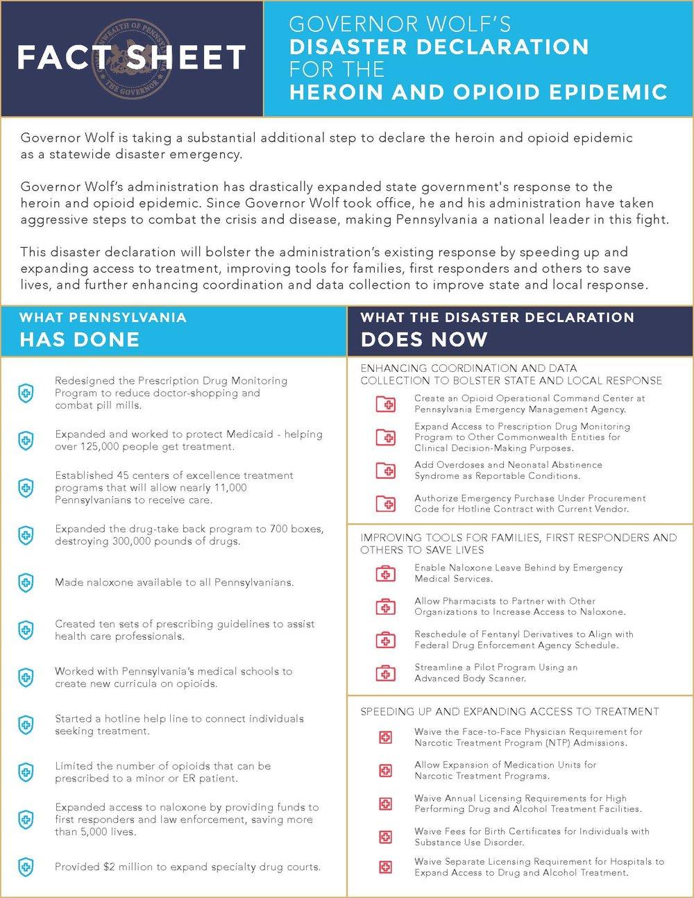 Opioid Epidemic Disaster Declaration