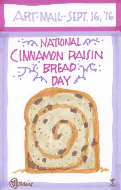 Cinnamon Raisin Bread 2016