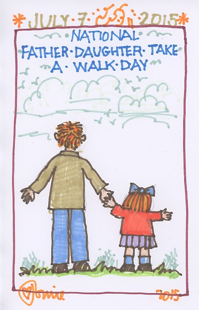 Father Daughter Take a Walk 2015